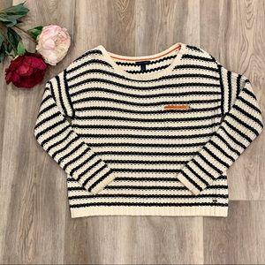 Tommy Hilfiger Navy Striped Knit Sweater